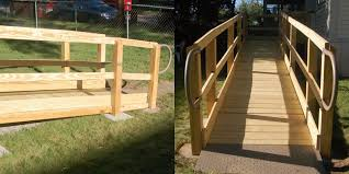 wood wheelchair ramps are fully functional look great too