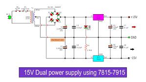 Shunt Regulator Circuit Design Dual 15v Power Supply Schematic With Pcb 15v 15v 1a