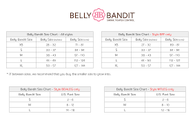 Pregnancy Tummy Size Chart Belly Bandit Before During After Pregnancy Legging