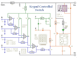 how to build a simple keypad operated switch circuit diagram of a universal keypad operated switch