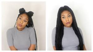 Box Braid Hair Style how i style my box braids 12 quick hairstyles youtube 4994 by wearticles.com