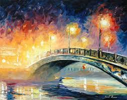 leonid afremov oil on canvas palette knife original paintings art famous artist