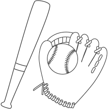 Small Picture Baseball Bat Coloring Pages GetColoringPagescom