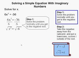 How to Solving a Simple Equation With Imaginary Numbers - YouTube