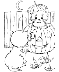 Small Picture 2 Cats Halloween Colouring Pages Free Printable Coloring Pages For