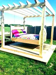 outdoor porch bed swing beds for bench swings australia swinging out