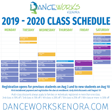 Class Schedule Danceworks Kenora