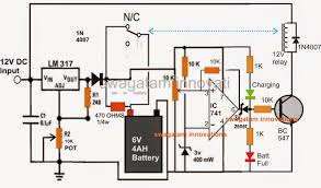 make a 6v 4ah automatic battery charger circuit out using a 6v 4ah battery charger circuit relay and variable voltage lm317