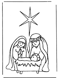 Nativity Coloring Pages For Preschool Coloringstar