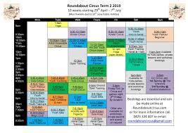term timetable