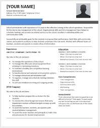School Administrator Resume Professional Resume Templates