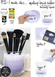 diy makeup brush holder