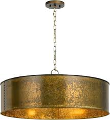 glass drum pendant light shallow modern black p