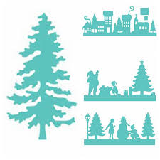 christmas house template us 1 55 33 off winter peace house christmas tree metal cutting dies stencil for diy scrapbooking decorative emboss craft die cutting template in