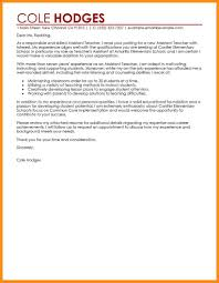 Cover Letter Forer Assistanting Uk Classistant Education Parts Of