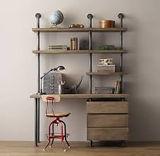 Industrial Pipe Single Desk Shelving With Drawers Home for Diy Pipe Desk  Shelves