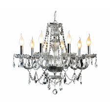 decor living 8 light crystal and chrome chandelier
