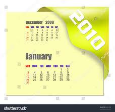 2010 Calendar January January 2010 Calendar Stock Illustration 45413878 Shutterstock