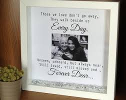 personalised framed print those we love don t go away memorial loving memory loved one remembrance bereavement sympathy gift