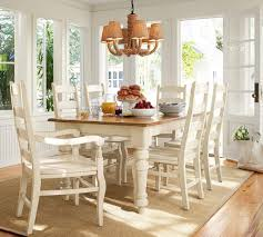 pottery barn white dining table pertaining to sumner extending kitchen thick planked wood top designs 19
