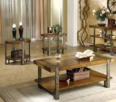 coffee tables awesome light brown rectangle farmhouse wood 3 piece table set with storage kitchen woo
