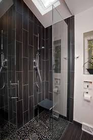bathroom shower designs small spaces. Stunning Black Bathroom Shower Design For Small Space With Stone Floring Decor Idea Designs Spaces