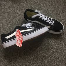 Fake Vans Fake Old Skool Vans In Black And White I Got Them A Depop