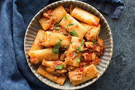 Tuna Pasta with Tomato and Olives Recipe