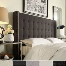 king size tufted headboard size king upholstered headboards for less overstock