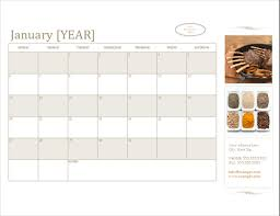 Small Calender Small Business Calendar Any Year Sun Sat