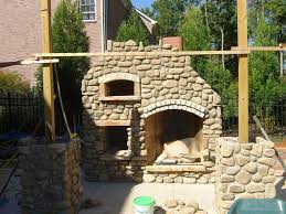 image of outdoor fireplace with oven images