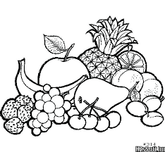 Coloring Pages For Fruits Free Fruit Coloring Pages For Kids