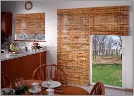 bamboo roman shades for sliding glass doors saudireiki bamboo door shade since the blinds on windows would be