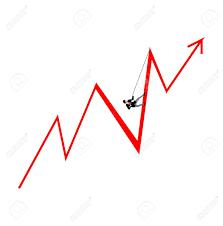 Arrow Chart Businessman Climbing An Arrow Chart Isolated On White Background