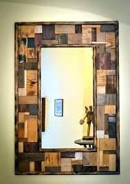 diy wood mirror frame. Wood Mirror Frame Reclaimed Wooden  . Polyurethane Diy