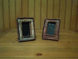 white or brown birch bark and twig pictures frames