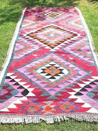 aztec print rug rugs wonderful runner and carpets a