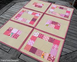 FairyFace Designs: {Easy Peasy} Quilted Placemats Tutorial & With the print squares just 2.5