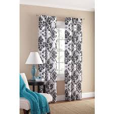 Amazon.com: Black and White Damask Curtain Panel Set of 2, 40x84-Inch.:  Home & Kitchen