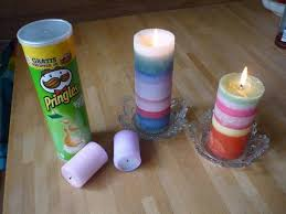 Pringles can as candle container