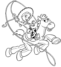 Small Picture Toy story coloring pages jessie and bullseye ColoringStar