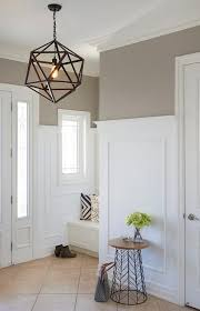 Foyer with Light Taupe Paint Color