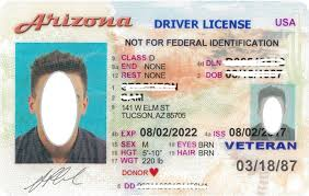 Arizona License Virtual Fake Card - Maker Id Driver's