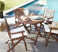 chic small bistro table outdoor ham round folding bistro table armchair set dark honey
