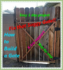 how to build a gate simple instructions