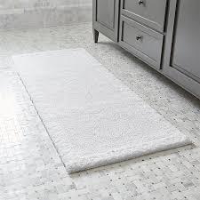 appealing 24 x 60 bath rug ultra spa white 24x60 bath rug crate and barrel