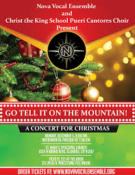 go tell it on the mountain a concert for christmas nova vocal christmas concert flyer page 001