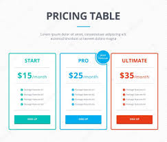 Pricing Template Pricing Table Template Stock Vector Denvitruk 90647838