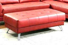 red leather ottoman coffee table red leather ottoman storage with contemporary coffee