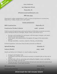How To Write A Perfect Construction Resume Examples Included For